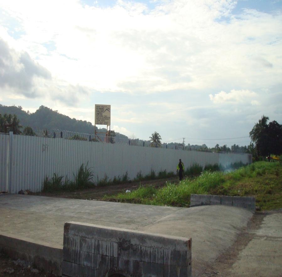 RDTC WAREHOUSE FENCING & BOX CULVERT AT SIAR, NCR, MADANG, PNG