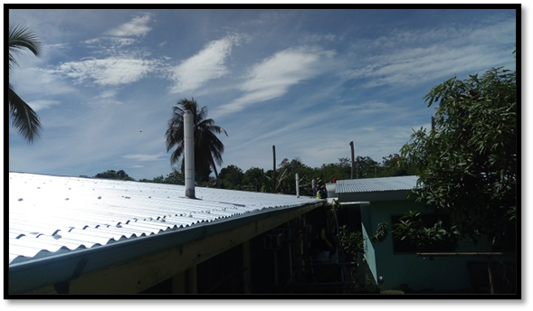 RDTC RE-ROOFING AND INSTALLATION OF GUTTER AT SIAR, MADANG, PNG
